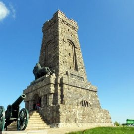 Monument on a peak Shipka – Bulgaria